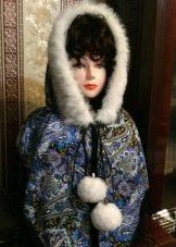Капор на голову 90-х (41 фото): яким був головний убір з ангори? Які зараз сучасні моделі? З чим носять?