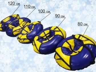 Розміри тюбінгів (16 фото): як вибрати за віком? Камери 90-100 см і 110-120 см, таблиця розмірів