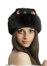 Шапка-боярка (56 фото): зимові моделі з соболя і з овчини, шкіряні